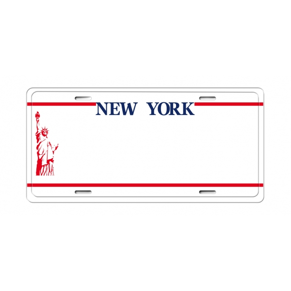 Matricula USA New York (30 x 14 cm)